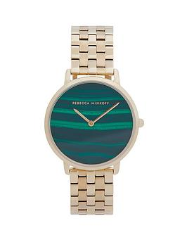 Rebecca Minkoff Rebecca Minkoff Rebecca Minkoff Green Mother Of Pearl Dial  ... Picture
