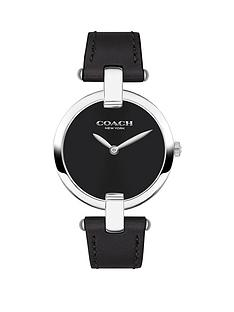 coach-coach-black-and-silver-detail-dial-black-leather-strap-ladies-watch