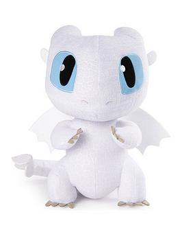how-to-train-your-dragon-dragons-squeeze-amp-growl-10-inch-plush-lightfury-dragon