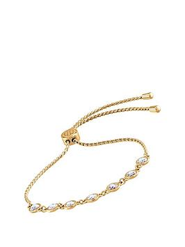 Tommy Hilfiger Tommy Hilfiger Classic Gold Plated And Cubic Zirconia  ... Picture