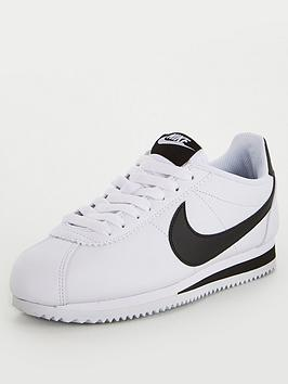 Nike Nike Classic Cortez Leather - White/Black Picture
