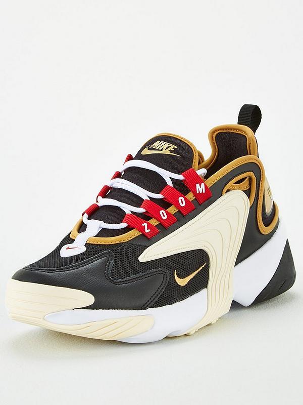 Nike Zoom 2k Black Gold White Littlewoods Com