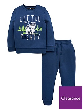 v-by-very-boys-2-piece-little-but-mighty-bear-sweat-top-amp-jogger-set-navy