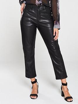 Religion Religion Girlfriend Fit Faux Leather Trouser - Black Picture