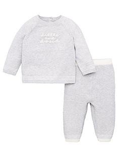 v-by-very-baby-unisex-2-piece-little-and-loved-knitted-set-grey