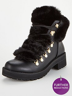 v-by-very-faux-fur-hiker-boots-black