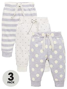 v-by-very-baby-unisex-3-pack-spot-amp-stripe-joggers-multi