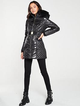 river-island-river-island-belted-longline-padded-coat-black