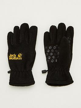 jack-wolfskin-kids-fleece-gloves-black
