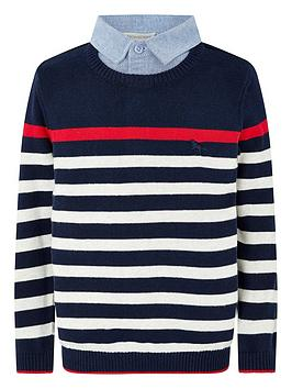 monsoon-mock-collar-stripe-jumper-navy