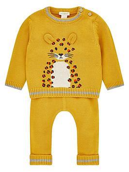 monsoon-elijah-leopard-knitted-set-mustard