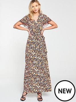 v-by-very-cape-back-casual-midi-dress-animal-print
