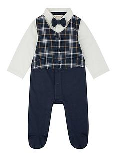 monsoon-baby-boys-check-waistcoat-bow-tie-romper