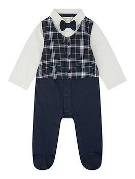 monsoon-baby-boys-check-waistcoat-bow-tie-romper