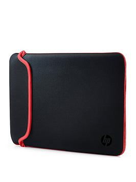 HP  Hp 14 Inch Black Red Chroma Reversible Laptop Sleeve