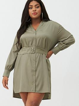 v-by-very-curve-belted-shirt-dress-khaki