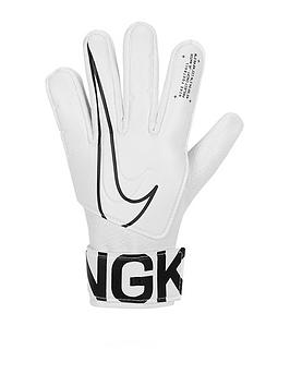 Nike   Academy Junior Goal Keeper Gloves - White