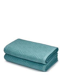 Catherine Lansfield Catherine Lansfield Diamond Sculptured Bath Towels Picture