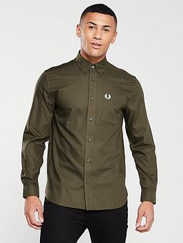 fred-perry-oxford-shirt-khaki