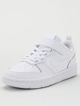 nike-court-borough-low-2-childrens-trainersnbsp--whitewhite