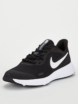 Nike Nike Revolution 5 Junior Trainers - Black/White Picture
