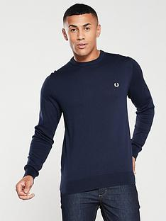 fred-perry-classic-crew-neck-jumper-deep-carbon-blue