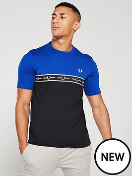 fred-perry-taped-chest-t-shirt-royal-blueblack