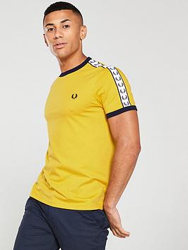fred-perry-taped-ringer-t-shirt-yellow