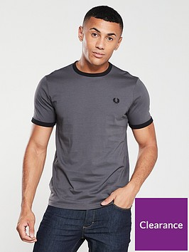 fred-perry-ringer-t-shirt-gunmetal-grey