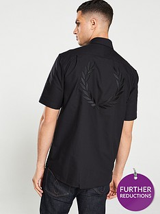 fred-perry-embroidered-oxford-shirt-black