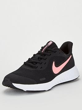 Nike Nike Revolution 5 Junior Trainers - Black/Pink Picture