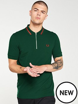 fred-perry-vinyl-tipped-pique-polo-shirt-ivy-green