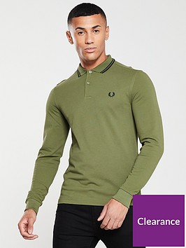 fred-perry-long-sleeved-twin-tipped-polo-shirt-avocado-green