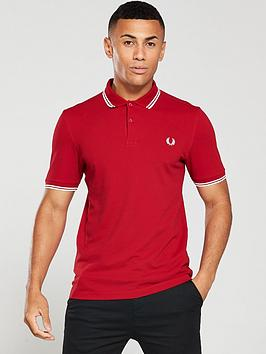 fred-perry-twin-tipped-polo-shirt-red