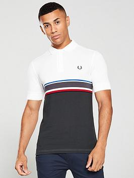 fred-perry-chest-stripe-polo-shirt-snow-whitegrey