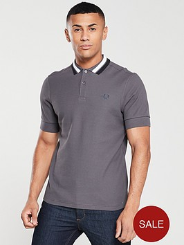 fred-perry-bold-tipped-polo-gunmetal-grey