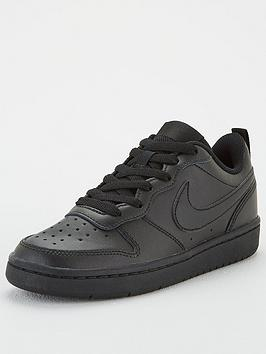 Nike Nike Court Borough Low 2 Junior Trainer - Black Picture