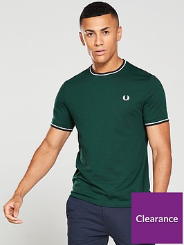 fred-perry-twin-tipped-t-shirt-forest-green