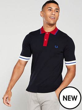 fred-perry-contrast-trim-knitted-polo-shirt-navy