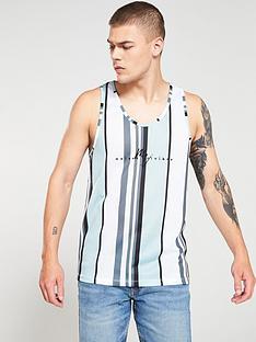 river-island-green-stripe-slim-fit-mesh-vest