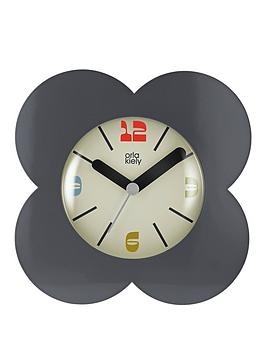 Orla Kiely House Orla Kiely House Flower Alarm Clock - Charcoal Picture