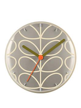 Orla Kiely House Orla Kiely House Linear Stem Wall Clock - Light Grey Picture