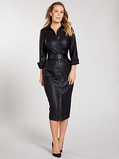 kate-wright-pu-shirt-midi-dress-blacknbsp