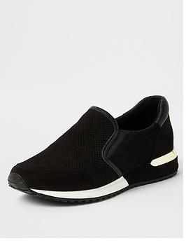 river-island-river-island-perforated-runner-trainers-black