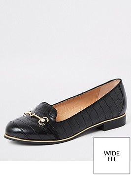 river-island-river-island-wide-fit-snaffle-loafers-black