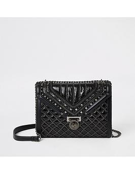 river-island-river-island-quilted-stud-cross-body-bag-black