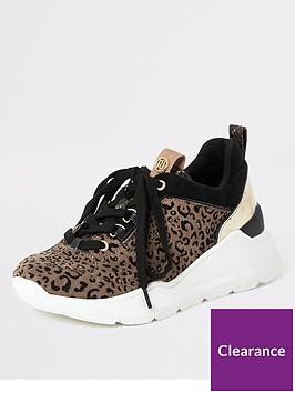 river-island-river-island-leopard-print-chunky-trainers-brown