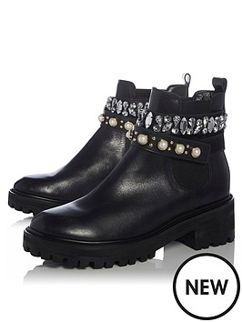 dune-london-plaful-embellished-strap-chunky-chelsea-boots-black