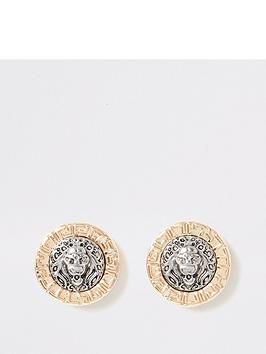 river-island-lion-stud-earring-gold