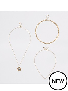 river-island-lion-layer-necklace-gold
